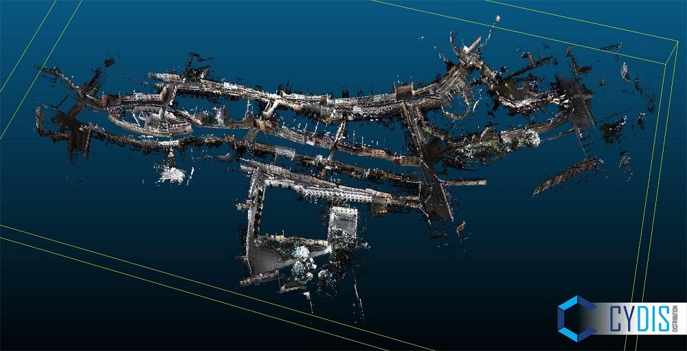 Nuage de points vu du haut Annecy scanner PX-80