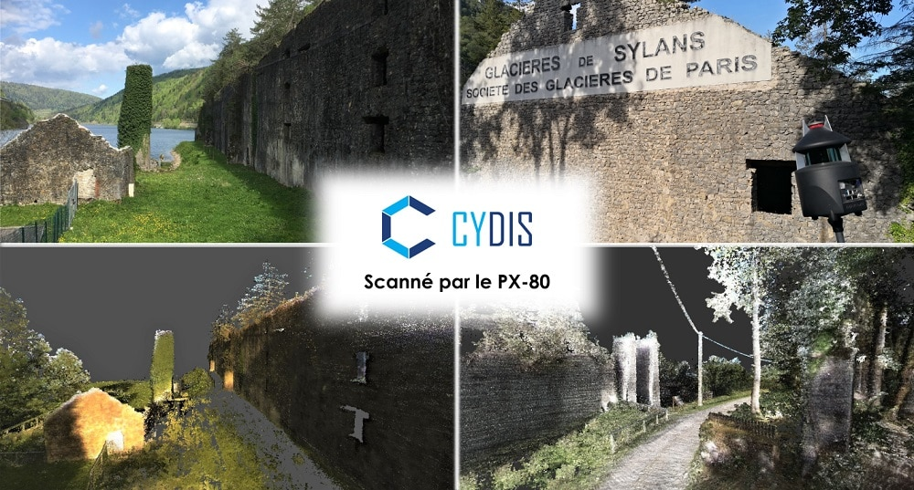 Relevé scanner PX-80 Glacières de Sylans