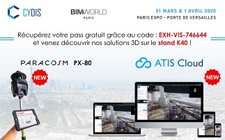 CYDIS, le scanner laser mobile PX-80 et le ATIS Cloud à BIM WORLD 2020