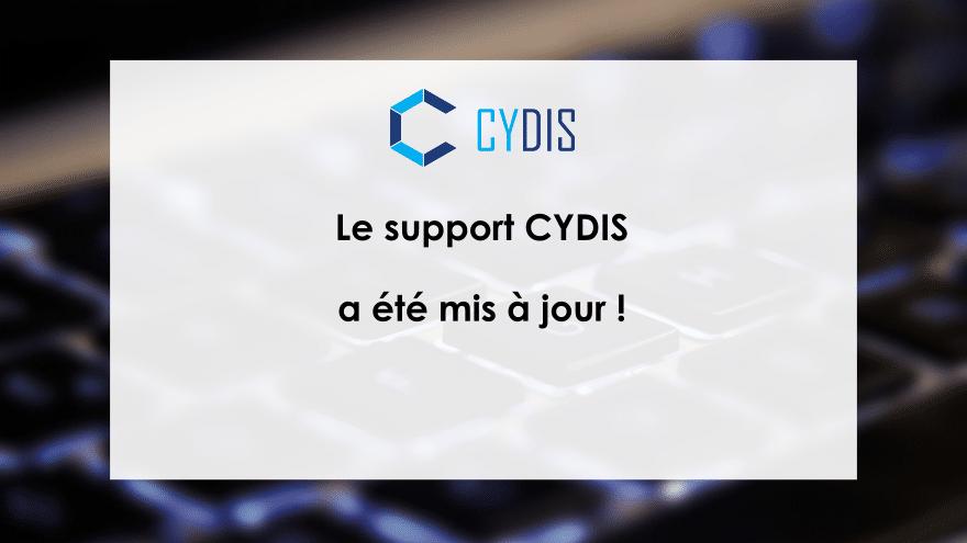 Mise à jour du support CYDIS